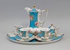 Service En Porcelaine Décoration à roses turquoise 9987212