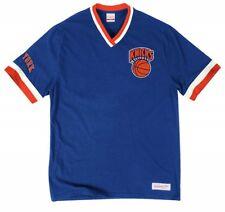 Mitchell & Ness New York Knicks Royal Overtime Win Vintage V-Neck T Shirt NBA
