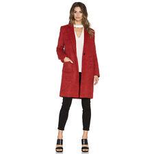 $495 ZAC ZAC POSEN Giselle Wool Coat in Cosmic Crimson Melange Red - 10 12 14