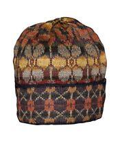 100% Alpaca Hand Knit Beanie Hat Seasons Pattern - Spring/Summer Cap