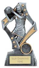 Flag Netball Trophy - Free Engraving