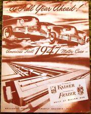 1947 Kaiser Frazer America's Firtst Motor Car Brochure