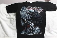 EAGLE AMERICAN SPIRIT MOTORCYCLE SKELETON MOON T-SHIRT