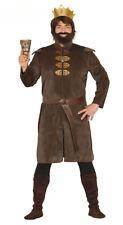 Herren Mittelalter Kostüm Tudor König Outfit Krone Gürtel Tunika M L XL NEU