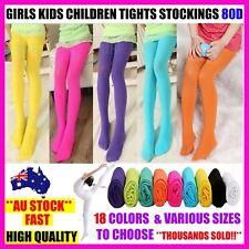 GIRLS KIDS DANCE BALLET TIGHTS STOCKINGS LEG PANTYHOSE HOSIERY OPAQUE 80 - S,M,L