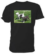 BULL Terrier inglese T SHIRT, il mio migliore amico-Scelta di Dimensioni e Colori!