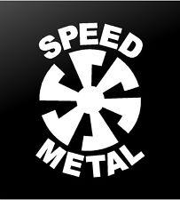 Speed Metal Thrash Heavy Metal Vinyl Decal Car Window Laptop Guitar Sticker