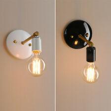 Rétro Moderne Style Fer Mansarde Café Blanc Noir Applique Lampe Lanterne Murale