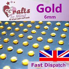 96 x 6mm Gold Quality Rhinestone Diamante Gems Diamonte 4 Greeting Card Crafts