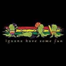 Rasta Iguanas T Shirt  You Choose Style, Size, Color  Beach & Surf  10455