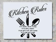 Le Regole di Cucina se c'è odore gettarla via Murali Arte Adesivo Foto