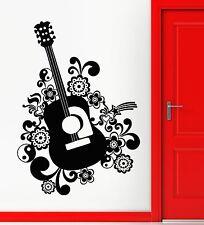 Wall Stickers Vinyl Decal Guitar Music Musical Instrument Pattern Decor (ig1764)