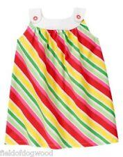 NWT Gymboree Strawberry Sweetheart Striped Dress SZ 3 6 12 18mo, 5T