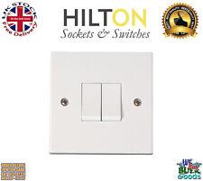 HILTON Light Switch White Plastic 1Gang 1Way Light 10Amp ***Best Quality***