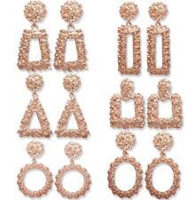Trendy Punk Jewelry Metal Statement Dangle Drop Earrings Big Rose Gold Geometric
