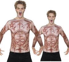 Mutilées Peau T-Shirt Pour Hommes Femmes Accessoire Déguisement Halloween