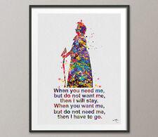Nanny McPhee Quote Watercolour Print Nursery Decor Baby Gift Inspirational Art