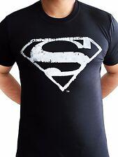 Logotipo de Superman Mono con aspecto envejecido el hombre de acero Clásicos DC Comics Negro Para hombres Camiseta
