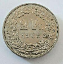 2 Francs Suisse 1963 <==> 1987 Switzerland