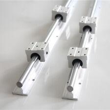 SBR12 1000mm Linear Rail Slide Guide Shaft Rod + SBR12UU Block Bearing US Stock