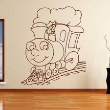 Kids Cartoon Steam Engine Train Wall Art Sticker (AS10141)