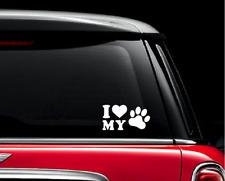 I Love My Pet Car Stickers For Auto Vehicle Window Vinyl Waterproof Decals