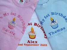 Il mio personalizzata 1st Primo Compleanno T-Shirt Cupcake Design può aggiungere data