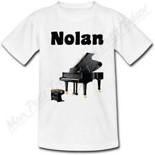 T-shirt Adulte Piano avec Prénom Personnalisé - du S au 2XL