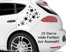 Aufkleber Sticker Auto 28 Sterne viele Farben hochwertige Folie mit Anleitung