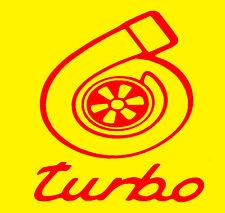"TURBO  VINYL Decals Sticker 4""X4"" BUY 2 GET 1 FREE"