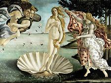 Quadro su Pannello in Legno MDF Sandro Botticelli La nascita di Venere