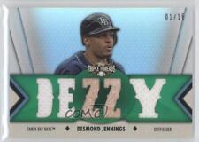 2012 Topps Triple Threads Relics Emerald TTR-183 Desmond Jennings Tampa Bay Rays