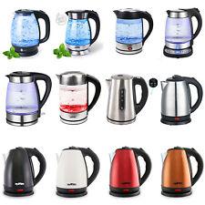 Glas Wasserkocher LED Beleuchtung Edelstahl Teekocher 1,8L 1,7L Kocher 1800 2200