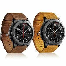 Leder-Armband f. ASUS ZenWatch 2 22mm Uhrenband Lederband Smartwatch Metall