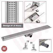 """""""rectangulaire"""" en acier inoxydable douche pièces humides Drainage Gully - 600 mm à 1500 mm"""