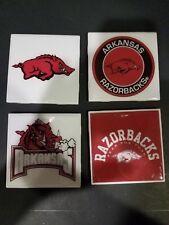 Arkansas Razorbacks Themed 4x4 Ceramic Coasters Handmade