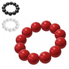 Bracciale con perle rosso nero bianco DONNA Rockabella PIN UP ANNI '50 60s