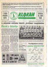 PRG     UEFA Cup   82/83     BOHEM.PRAG - ADMIRA W.WIEN