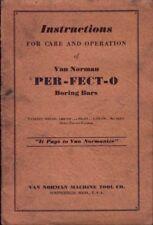 VAN NORMAN PER-FECT-O INSTRUCTION BOOK & 777 PART LIST.