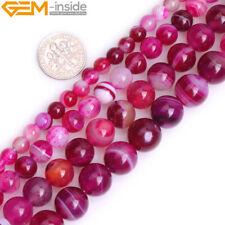Natural Round Loose Spacer Agate 1 Strand Gemstone Beads 6-12mm DIY Big Hole