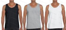 Homme Uni 100% Coton Sans Manches Débardeur Adultes Gym Entraînement Athlétique Débardeur