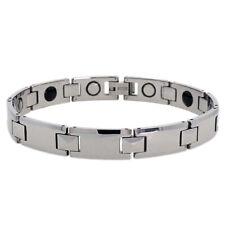 Men Women 10MM Tungsten CarbideTriangular Facetes Magnetic Bracelet