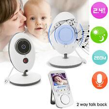 2.4'' LCD Audio Video Baby Monitor Radio Nanny Music Intercom IR Portable RK