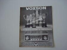 advertising Pubblicità 1967 VOXSON INDIANAPOLIS