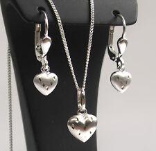 925 ECHT SILBER *** Herz diamantiert Ohrhänger - Anhänger - Set, Kette optional