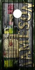 SINGLE Cornhole Board- Bag Toss wrap- 3M VINYL- Nightlife- Jameson Irish Whiskey
