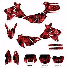 SUZUKI DRZ 400 DRZ400SM DRZ400SE graphics decal kit #9500 Red Zombie Skull