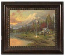 Thomas Kinkade Evening Majesty 16 x 20 Brushstroke Vignette