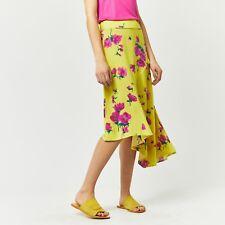 WAREHOUSE Yellow Delia Flower Asymetric Skirt 6/8/10 RRP £38