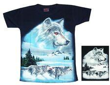 T-Shirt Wolf,Gr.110*116, 122*128 Cowboy Western,Indianer, Rudel Wölfe,Husky,Zoo